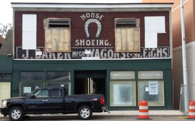Construction Reveals Vintage Sign of Jacob Baker – Grand Rapids Carriage Maker